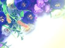 Bouquet Flowers Retro & Vintage Stlye. Beautiful Bouquet Flowers Border Retro & Vintage Stlye Royalty Free Stock Photo