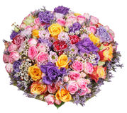 Bouquet of flowers from roses and chrysanthemums Stock Image
