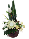 Bouquet of Flowers in Round Bowl Stock Images