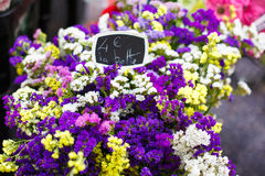 Bouquet of flowers sold in the market in Provence, France. Stock Image