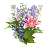 Bouquet of flowers in square frame Stock Image
