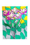 Bouquet of flowers - stained glass Royalty Free Stock Photography
