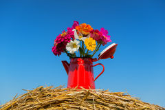 Bouquet flowers in summer Stock Photo