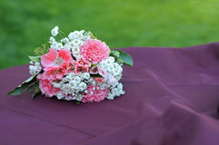Bouquet Flowers on table Royalty Free Stock Images
