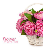 Bouquet of flowers in a vase old isolated on white background Royalty Free Stock Photo