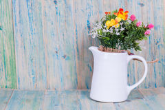 Bouquet of flowers in vase Royalty Free Stock Image