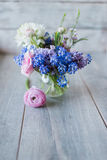 A bouquet of flowers in a vase Stock Photo