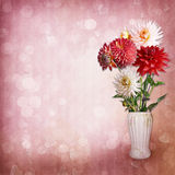 Bouquet of flowers on vintage background Royalty Free Stock Photos