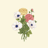 Bouquet of flowers. stock illustration