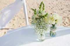 Bouquet of flowers for the wedding ceremony. Stock Photography