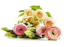 Bouquet of flowers. On white background Royalty Free Stock Photo