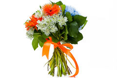 Bouquet. Of flowers on white background Royalty Free Stock Images