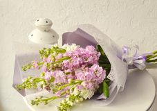Bouquet of flowers on white background royalty free stock images