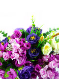 Bouquet Flowers on white background. Blooming Bouquet Flowers on white background Royalty Free Stock Photography