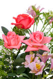 Bouquet of flowers on white Royalty Free Stock Photo