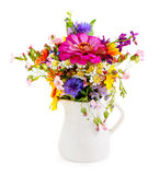 Bouquet of flowers in the white vase Stock Images
