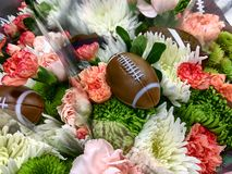 Bouquet for the football weekend with a football accent royalty free stock photos