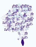 The Bouquet of forget-me-nots Stock Image