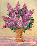 Bouquet of fragrant purple lilacs Stock Photo
