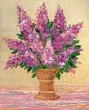 Bouquet of fragrant purple lilacs Stock Photo