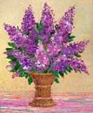 Bouquet of fragrant purple lilacs Stock Image