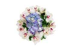 Bouquet frais avec l'orchidée et l'hortensia blancs Photos stock