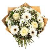 Bouquet frais et luxuriant des fleurs colorées, d'isolement sur le fond blanc Photographie stock