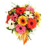 Bouquet frais et luxuriant des fleurs colorées, d'isolement sur le fond blanc Photo libre de droits