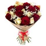 Bouquet frais et luxuriant des fleurs colorées, d'isolement sur le fond blanc Photos libres de droits