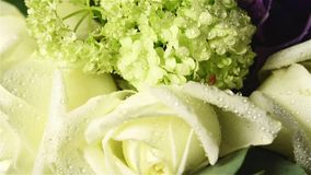 Bouquet of fresh flowers stock video