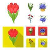 A bouquet of fresh flowers cartoon,flat icons in set collection for design. Various bouquets vector symbol stock web. A bouquet of fresh flowers cartoon,flat stock illustration