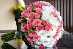 Bouquet of fresh flowers for the wedding ceremony. Royalty Free Stock Image