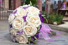 Bouquet of fresh flowers for the wedding ceremony. Stock Photos