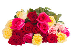 Bouquet of fresh multicolored  roses Stock Image
