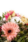 Bouquet of fresh pink and white flowers Stock Image