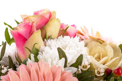 Bouquet of fresh pink and white flowers Stock Images