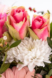 Bouquet of fresh pink and white flowers Royalty Free Stock Photography