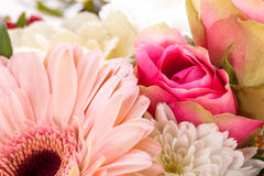 Bouquet of fresh pink and white flowers Stock Photography