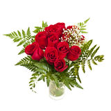 Bouquet of fresh red roses Stock Photo