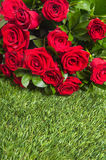 Bouquet with fresh   red  roses Stock Images