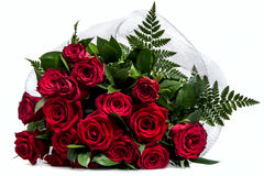 Bouquet with fresh   red  roses Royalty Free Stock Photo