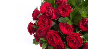 Bouquet with fresh   red  roses Stock Photo