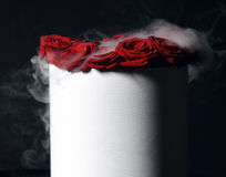 Bouquet of fresh red roses flower bright with smoke Stock Image