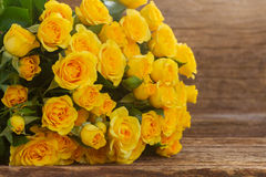 Bouquet of fresh roses Stock Photos
