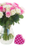 Bouquet of fresh roses Royalty Free Stock Photography