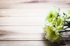 Bouquet Of Fresh Spring Flowers On Rustic Wood Vintage Stock Photos