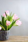 Bouquet of fresh spring flowers stock photos