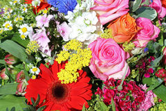 Bouquet of fresh Summer Flowers Stock Photo