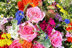 Bouquet of fresh Summer Flowers Stock Images