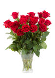 Bouquet of fresh valentine red roses isolated Stock Photo